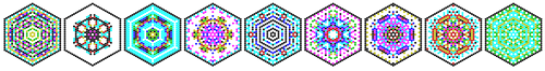 9 hexagons