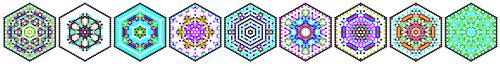 9 hexagons